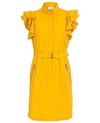 Cotton poplin ruffled short dress AKRIS PUNTO