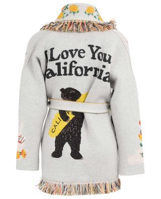 Cardigan aus Kaschmir mit Gürtel und Fransen I Love U California ALANUI
