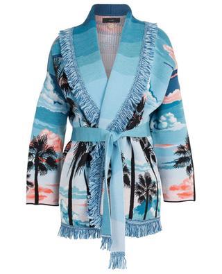 Jacquard-Cardigan aus Wolle und Seide Sunset Lanscape ALANUI