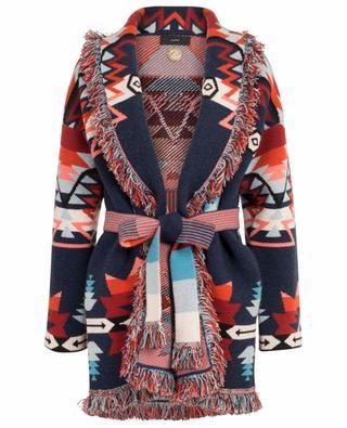Dicker Cardigan aus Kaschmirmix mit geometrischen Mustern Cali Star ALANUI