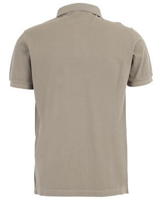 Polohemd aus Baumwollpiqué mit Windrosen-Patch STONE ISLAND