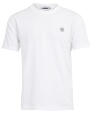 Cotton crew neck T-shirt wind rose patch STONE ISLAND