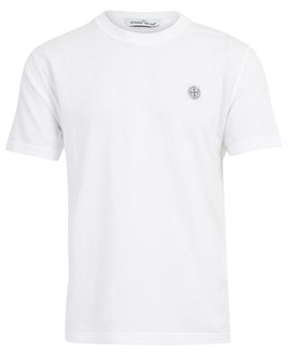 Cotton crew neck T-shirt wind rose patch STONE ISLAND