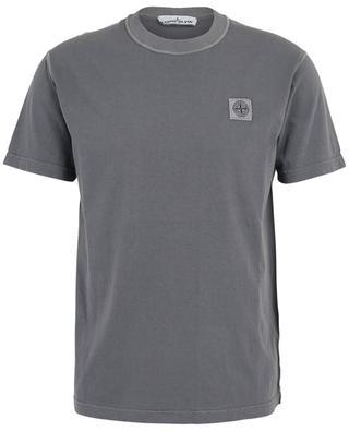 T-shirt en coton à col rond patch rose des vents STONE ISLAND