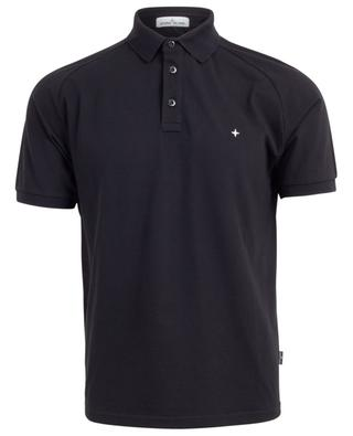 Polo slim en coton stretch broderie Wind Rose STONE ISLAND