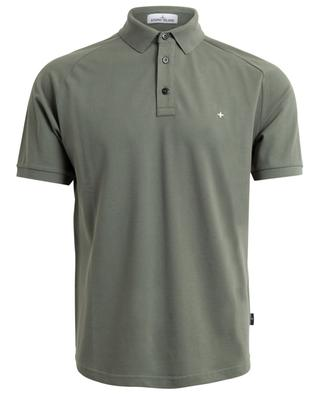 Slim-Fit-Polohemd aus Baumwollstretch Wind Rose STONE ISLAND