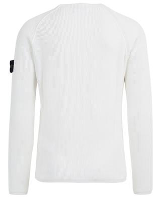 Raglan sleeve cotton rib knit jumper STONE ISLAND
