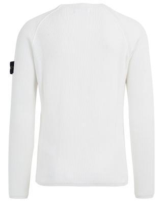 Raglan sleeve cotton rib knit jumper STONE ISLAND