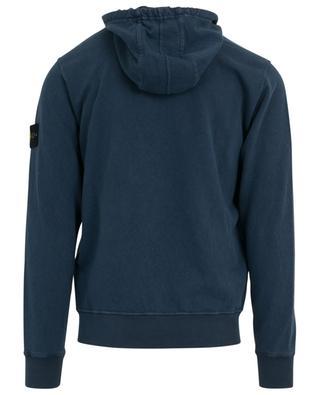 Sweat-shirt à capuche zippé en coton STONE ISLAND
