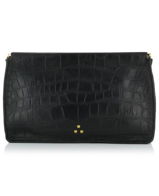Clutch aus Leder in Kroko-Optik Clic Clac L JEROME DREYFUSS