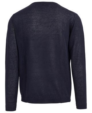 Lighweight linen blend round neck jumper DONDUP