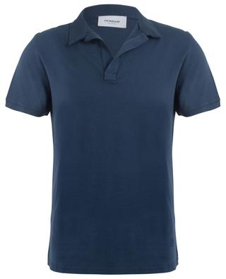 Cotton and linen polo shirt DONDUP