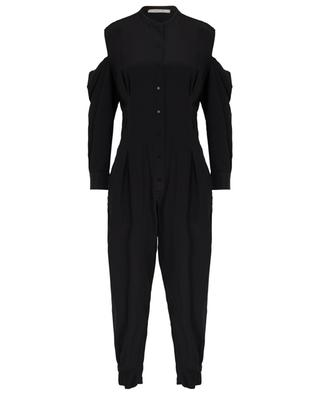 Fluid Volume silk jumpsuit with shoulder cut-outs DOROTHEE SCHUMACHER
