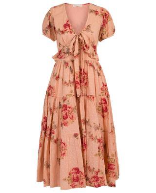 Carlton floral print long cotton dress LOVESHACKFANCY