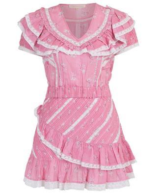 Bonita floral print and lace cotton mini dress LOVESHACKFANCY