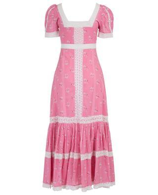 Longue robe en coton imprimé fleuri et dentelle Ryan LOVESHACKFANCY