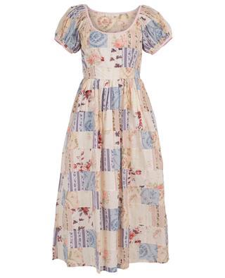 Lais long floral print cotton dress LOVESHACKFANCY