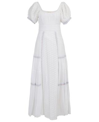 Robe longue en coton et soie broderies anglaises Jessie LOVESHACKFANCY