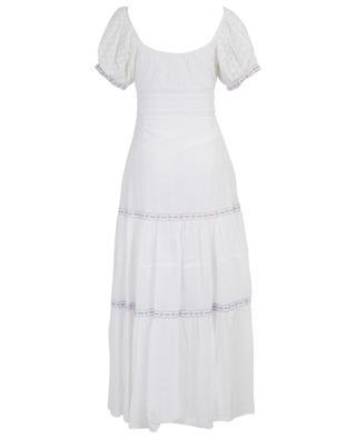Jessie long cotton and silk openwork dress LOVESHACKFANCY