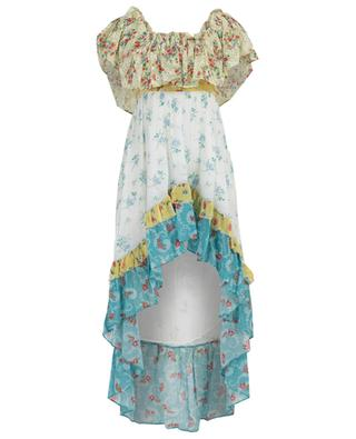 Alexia off-shoulder floral print cotton midi dress LOVESHACKFANCY