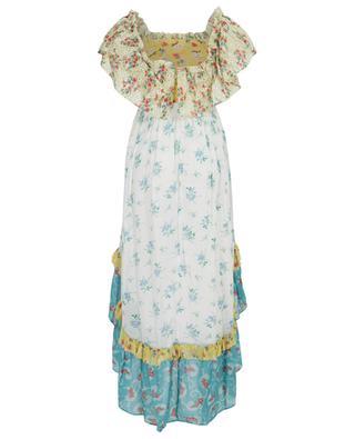 Robe midi épaules nues en coton fleuri Alexia LOVESHACKFANCY