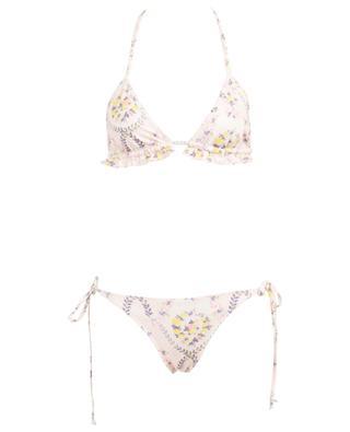 Bikini triangle fleuri Riviera Lemon Dream LOVESHACKFANCY