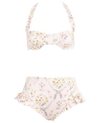 Bikini fleuri avec bas taille haute Kimberly Lemon Dream LOVESHACKFANCY