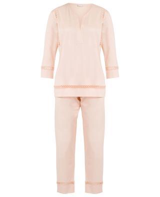 Schlafanzug aus Baumwolle mit Lochstickerei ZIMMERLI