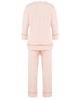 Cotton pyjama with openwork details ZIMMERLI