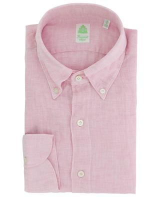 Leonardo Gaeta long-sleeved linen shirt FINAMORE