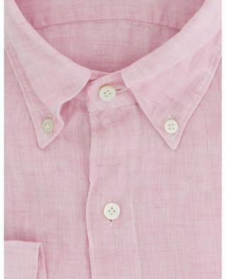 Leonardo Gaeta long-sleeved linen shirt FINAMORE