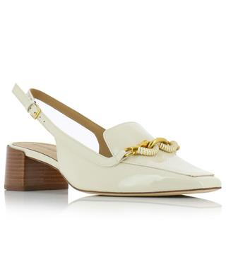 Jessa patent leather slingback pumps TORY BURCH