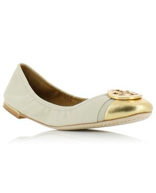Minnie leather ballet flats TORY BURCH
