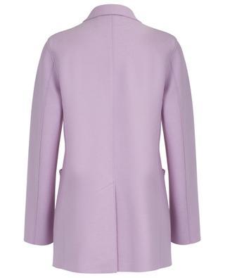 Einreihiger kurzer Mantel aus Schurwolle HARRIS WHARF