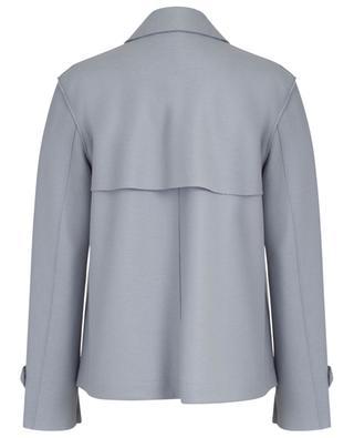 Manteau court en laine vierge à double boutonnière HARRIS WHARF