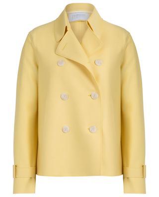 Doppelreihiger kurzer Mantel aus Schurwolle HARRIS WHARF