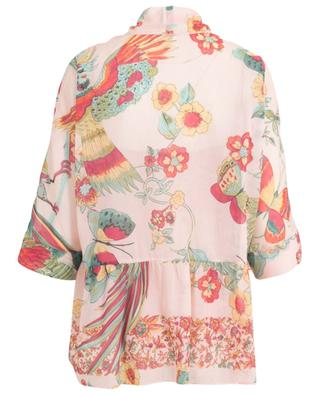 Blouse transparente en coton et soie Bird of Paradise RED VALENTINO
