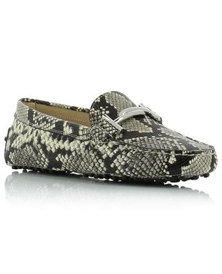 Dopia T python effect leather loafers with pebbles TOD'S
