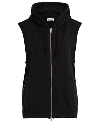 Sleeveless sweat jacket with hood and side zippers SAINT LAURENT PARIS