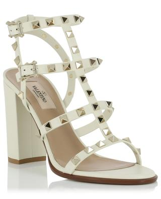 Rockstud leather sandals with block heels and ankle straps VALENTINO