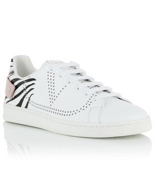 Niedrige Sneakers aus Leder mit Zebra-Print Backnet VALENTINO