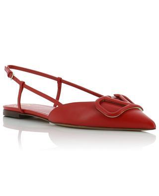 VLOGO pointy tips leather ballet flats VALENTINO