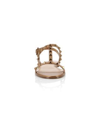 Sandales plates en cuir métallisé Rockstud VALENTINO