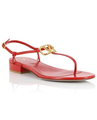 VLOGO leather flat sandals VALENTINO