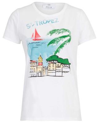 T-shirt en coton imprimé St Tropez ALLUDE