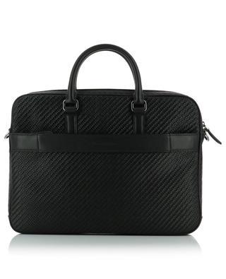 Braided leather portfolio Z ZEGNA