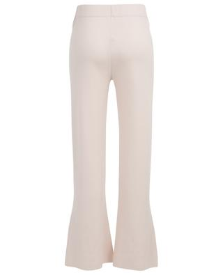 Flared knit trousers with slits ALLUDE