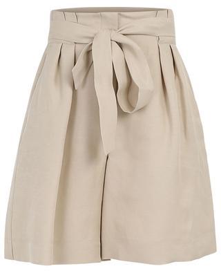 Nabulus linen and viscose wide-leg shorts IBLUES
