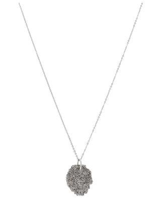 Halskette aus Stahl mit Webanhänger Medal DELPHINE LAMARQUE