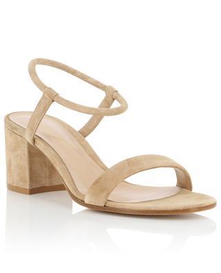 Sandales à talon carré en daim Nadia 60 GIANVITO ROSSI